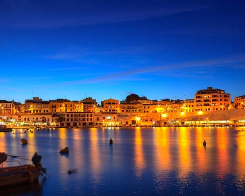 Cales Fonts during sunet